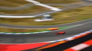 Vettel, durante los libres del GP de Alemania