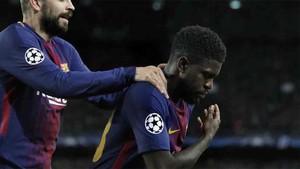 Umtiti se dirigió a la afición del Barcelona