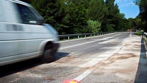 Furgoneta en carretera