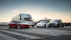 Gama de Tesla y su camión, el Semi.