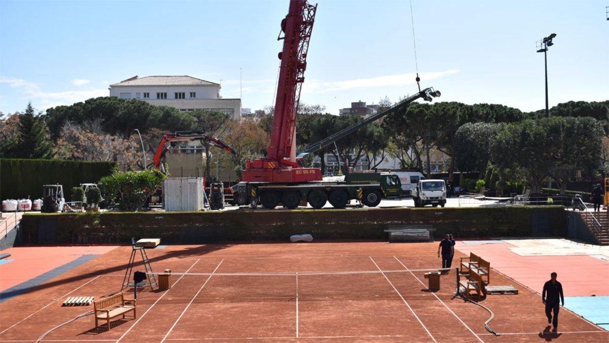 1090609c3081 Arranca el montaje de las instalaciones del Barcelona Open Banc Sabadell
