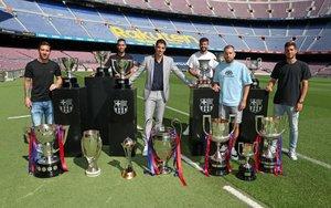 Acto de despedida de Luís Suárez del FC Barcelona.
