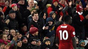 Aficionados del Liverpool en Anfield.