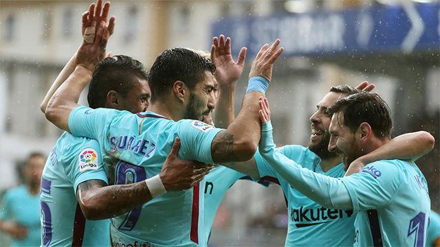 La alineación del FC Barcelona contra el Eibar