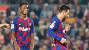 Ansu Fati y Messi optan a los Globe Soccer Awards 2019
