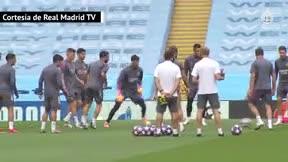 Así ha sido el entrenamiento del Madrid antes de medirse al City
