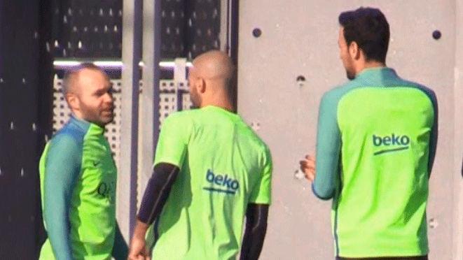 Así ha sido el último entrenamiento del FC Barcelona