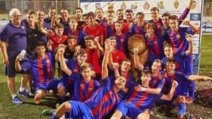 El FC Barcelona fue el campeón en la primera edición del trofeo The Cup