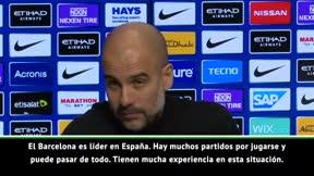¿Ve Guardiola al Barça campeón de liga?