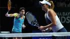 Hingis y Mirza destrozan a Muguruza y Suárez en la final del Masters