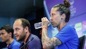 Jenni Hermoso y Lluís Cortés hablaron en la previa al Real Madrid - Barça