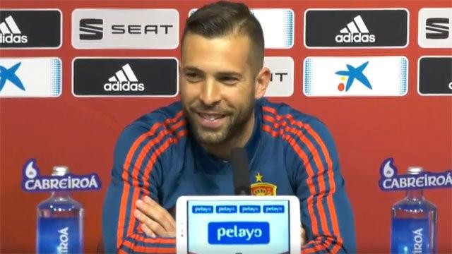 Jordi Alba espera estar mucho tiempo en las convocatorias con selección