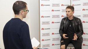Jorge Lorenzo en un momento de la entrevista con SPORT