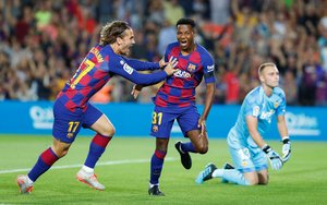 Las imágenes del partido entre el FC Barcelona y el Valencia CF correspondiente a la jornada 4 de LaLiga Santander disputado en el Camp Nou.