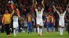 Malouda, Obi, Kalou, Drogbay Ashley Cole celebran el 2-2 frente al Barça en el Camp Nou que les dio el pase a la final de la Champions 2011/12 en la que se impondrían al Bayern