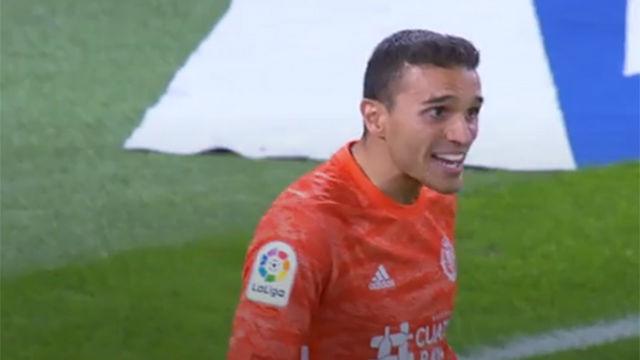 La mano de la jornada: el paradón de Masip que evitó la derrota del Valladolid