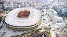 Maqueta virtual del futuro Camp Nou tras la ejecución del proyecto Espai Barça