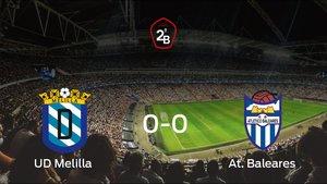 El Melilla y el At. Baleares empatan en la ida de la semifinal de los playoff (0-0)