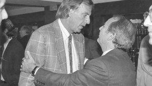 Menotti, junto al expresidente Josep Lluís Núñez