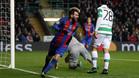 Messi marcó un gol al Celtic