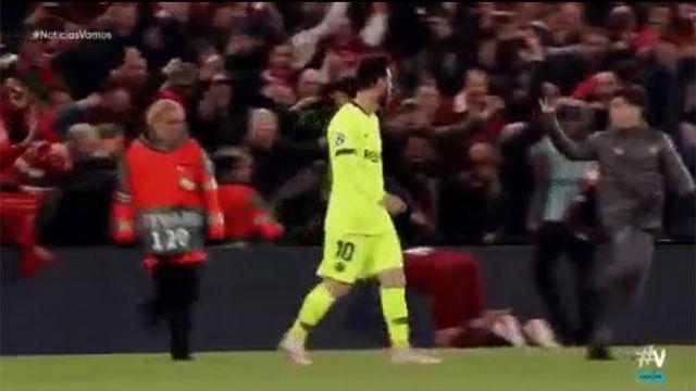 El niño que troleó a Messi en Anfield