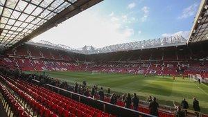 Old Trafford se está preparando para albergar hasta 23.500 aficionados con distancia social