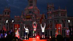El podio de la pasada Vuelta a España