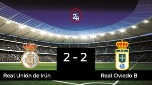 La Real Unión de Irún no pudo conseguir la victoria ante el Real Oviedo B (2-2)
