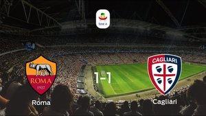 Reparto de puntos en el Olimpico di Roma: Roma1-1 Cagliari