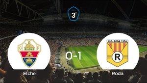 El Roda vence 0-1 al Elche Ilicitano y se lleva los tres puntos