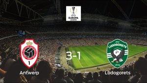 El Royal Antwerp vence por 3-1 al Razgrad Ludogorets