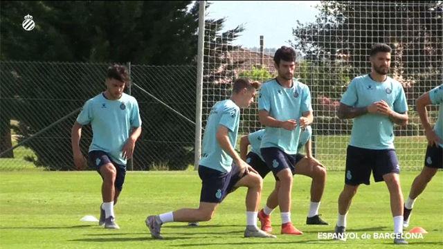 Sesión de trabajo matinal para el Espanyol