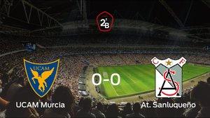El UCAM Murcia y el At. Sanluqueño solo suman un punto (0-0)