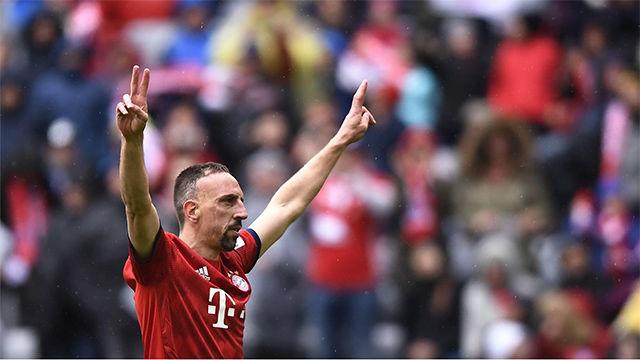 ¿El último gol de Ribéry con el Bayern?