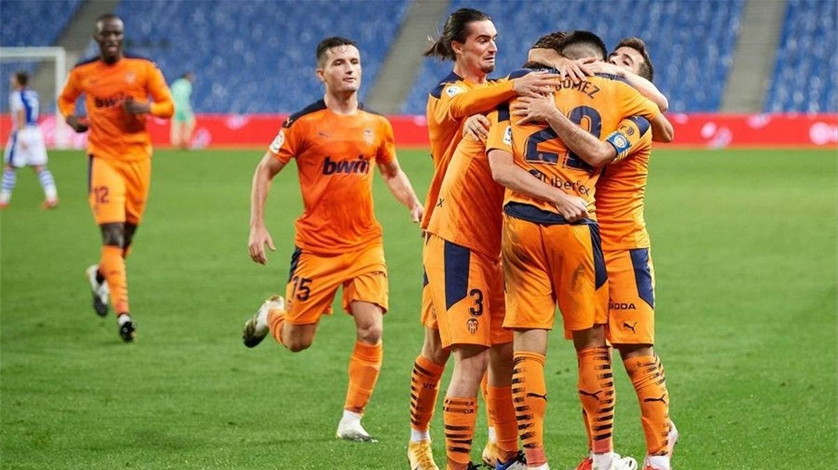 El Valencia frustra a la contra la insistencia y el dominio de la Real Sociedad