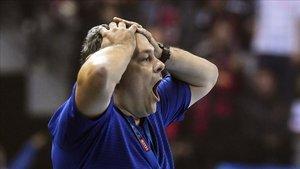 Xavi Pascual no estaba contento con la actitud de su equipo en la pista