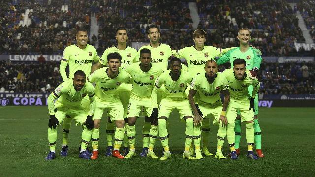 El 1x1 de la media parte del Barça ante el Levante