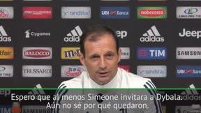 Allegri ironiza sobre el encuentro entre Simeone y Dybala