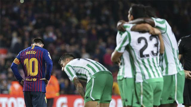 Así fue el festival de goles que se vio entre Barça y Betis