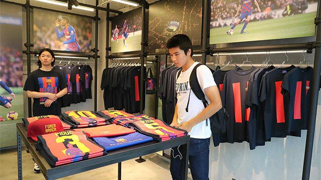 Así es la tienda especial del Barça en el centro de Tokyo