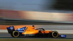 Carlos Sainz, a los mandos del McLaren
