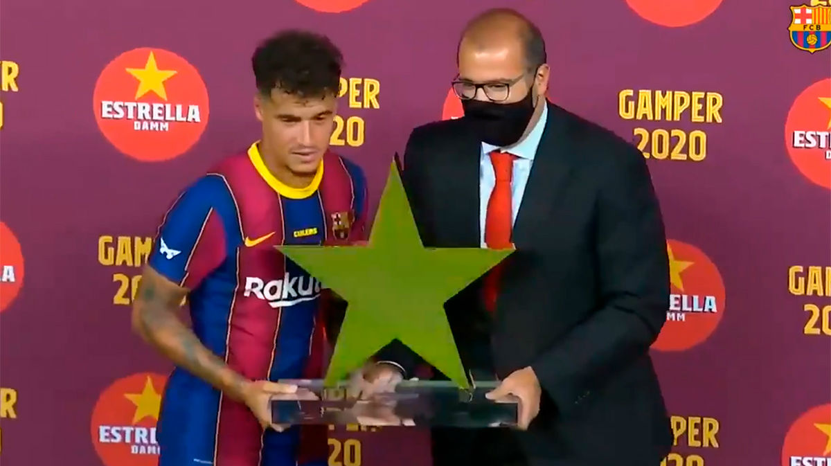 Coutinho, premio Estrella como mejor jugador del Gamper