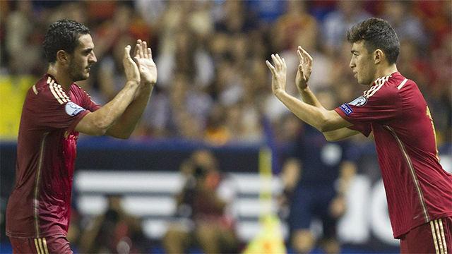 El debut de Munir con la selección española