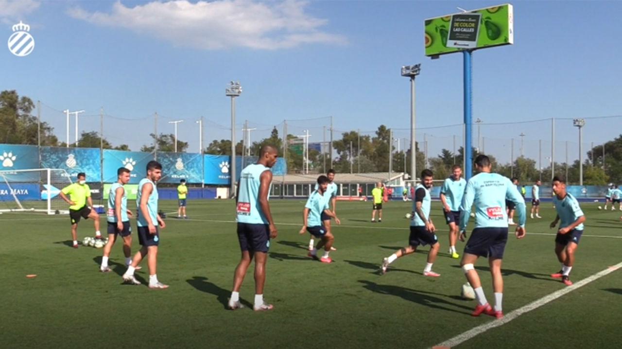El Espanyol ultima la preparación del partido contra el Valencia