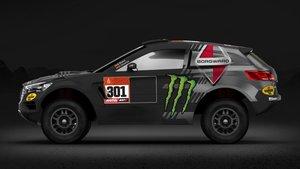 Esta es la decoración que lucirá el coche de Nani Roma en el próximo Dakar