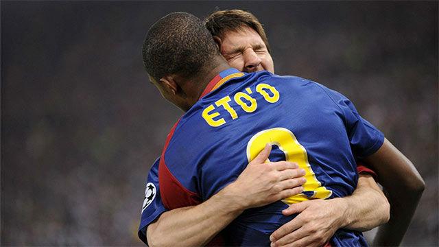 Etoo: Hay dos Barça: uno con el Santo Messi y otro sin el Santo Messi