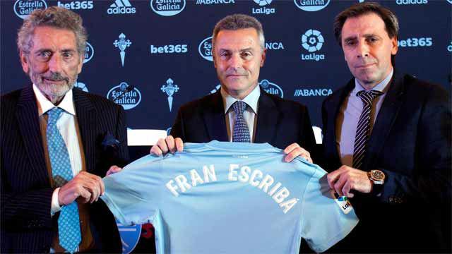 Fran Escribá, presentado como nuevo entrenador del Celta de Vigo