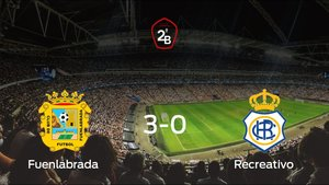 El Fuenlabrada, a un paso de ascender a Segunda División después de su triunfo frente al Recreativo (3-0)