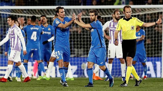 El Getafe se impone al Valladolid sobre la bocina