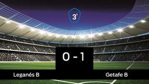 El Getafe B vence por 0-1 al Leganés B